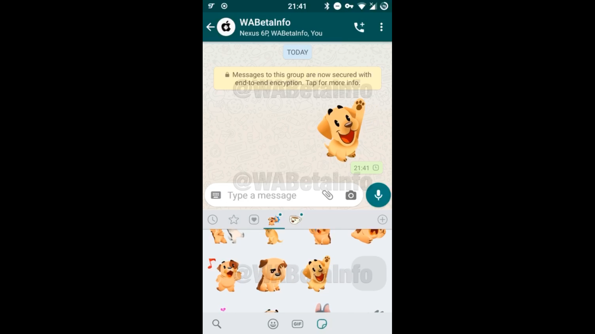 Video de prueba de los stickers animados en WhatsApp.