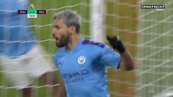 Así fue el gol de Sergio Aguero.