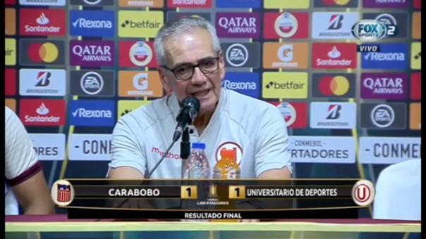 Gregorio Pérez analizó el empate de Universitario ante Carabobo por la Copa Libertadores