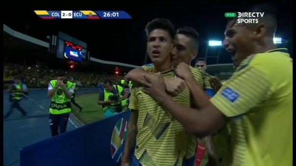 Así fue el gol de Jorge Carrascal.