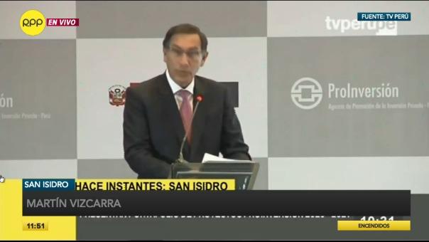El presidente Vizcarra participó de la presentación del Portafolio de Proyectos 2020 - 2021.