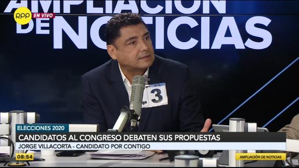 Jorge Villacorta, candidato al Congreso por Contigo.