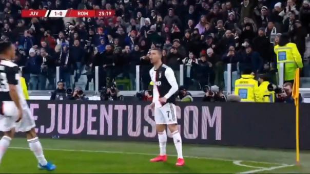 Así fue el gol de Cristiano Ronaldo contra la Roma.