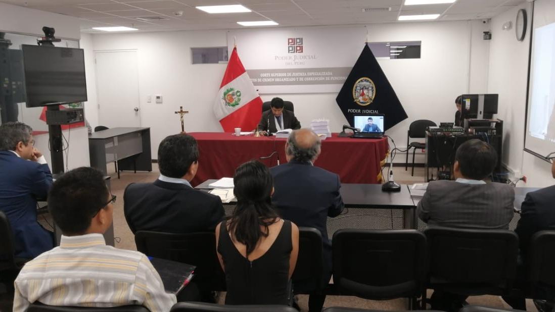 El juez Richard Concepción Carhuancho dirigió la audiencia.