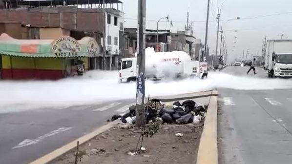 Así se inició la deflagración del camión cisterna con gas.