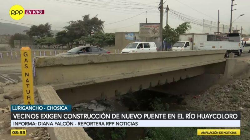 Así se encuentra el puente provisional instalado hace tres años.