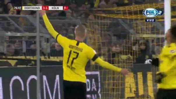 Primer gol de Haaland ante Colonia.
