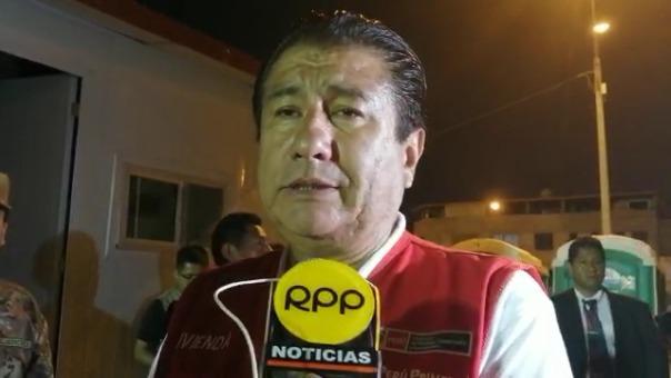 El ministro de Vivienda y el jefe del INDECI dan detalles sobre la reconstrucción de las viviendas afectadas por la explosión de un camión cisterna, en Villa El Salvador.