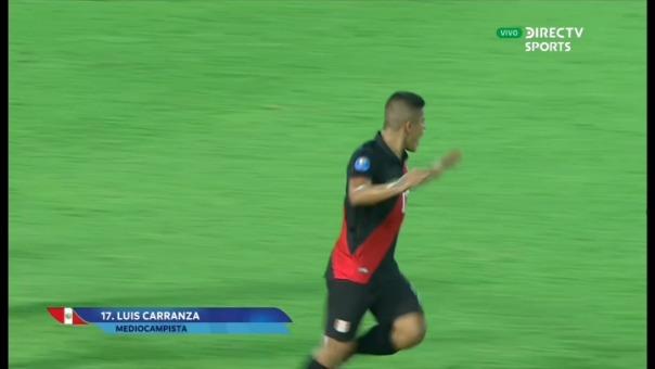 Así fue el gol de Luis Carranza.