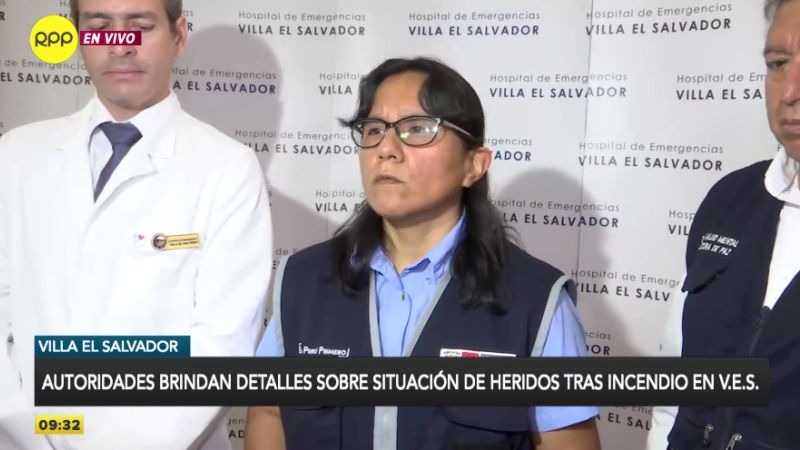 La doctora Mónica Meza presidió una conferencia de prensa en el Hospital de Emergencias Villa El Salvador.
