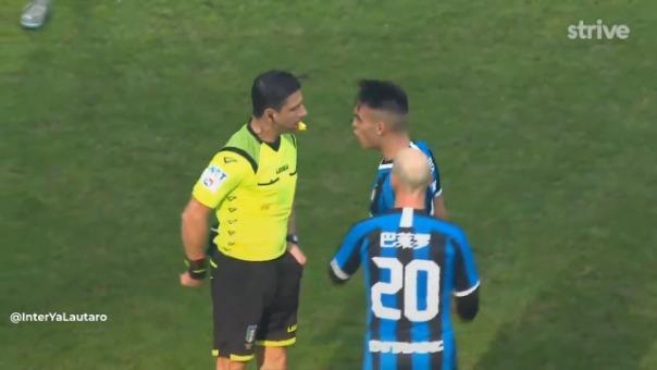 Lautaro Martínez se fue expulsado en los descuentos del partido entre Inter de Milán y Cagliari
