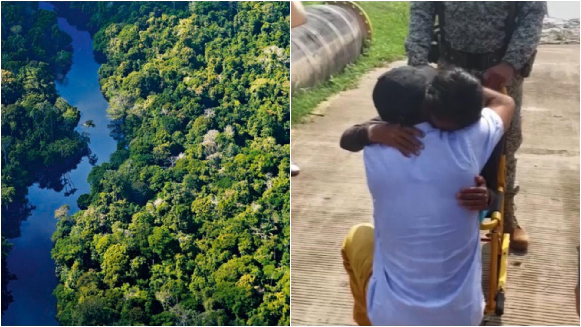 Familia estuvo perdida 34 días en la Amazonía