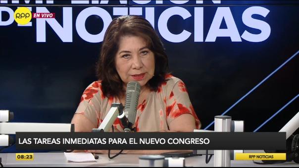 Martha Chávez es la candidata número 1 de Fuerza Popular.