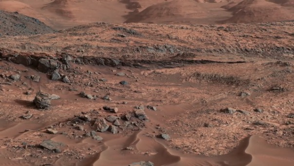 Video del cráter Gale captado por el Rover Curiosity