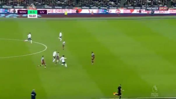 Oxlade-Chamberlain marcó el 2-0 del Liverpool ante el West Ham.