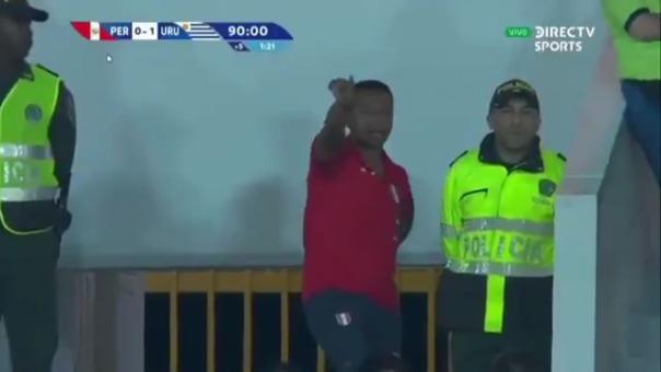 Nolberto Solano en el Sudamericano Sub 23.