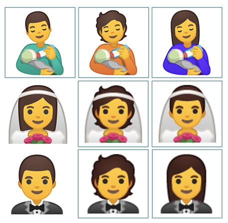 Los nuevos emojis agregan alternativas inclusivas.
