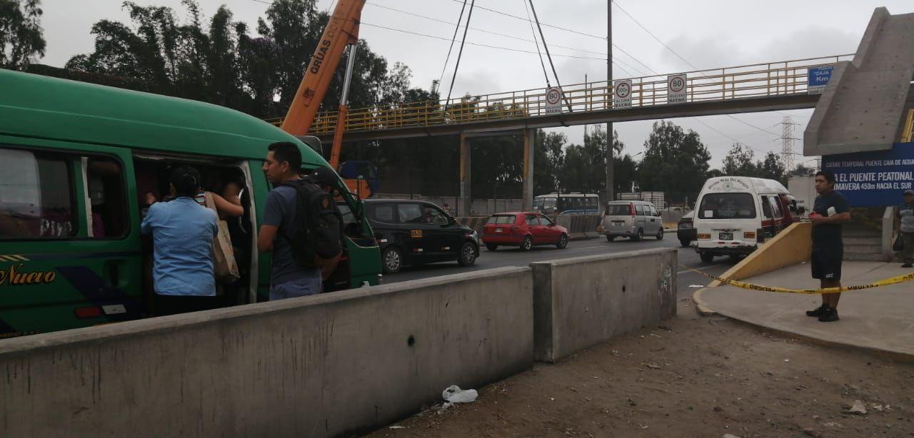 La empresa concesionaria Lamsac aseguró que ya ha iniciado las labores de reparación del puente Caja de Agua.