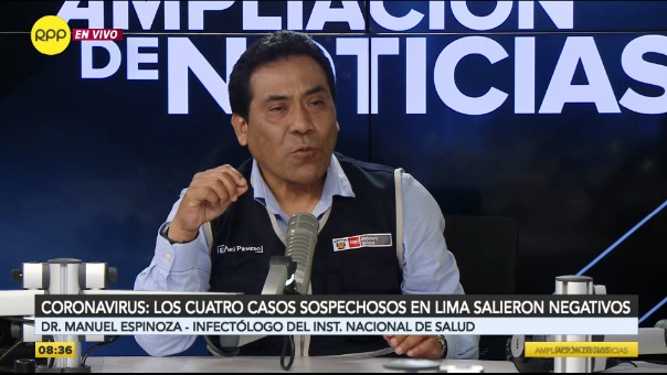 Manuel Espinoza, infectólogo del Instituto Nacional de Salud.
