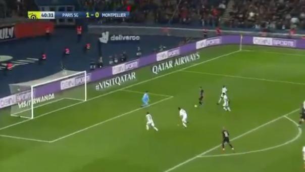 El gol de Ángel Di María en la goleada de PSG sobre Montpellier.