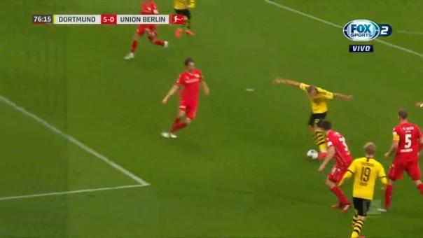 Segundo gol de Erling Haaland ante Unión Berlín por la Bundesliga.