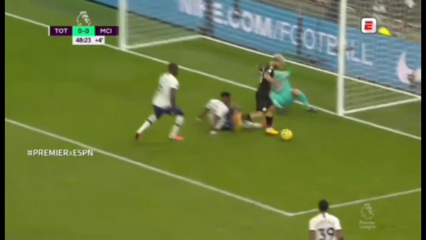 Sergio Agüero ante Tottenham.