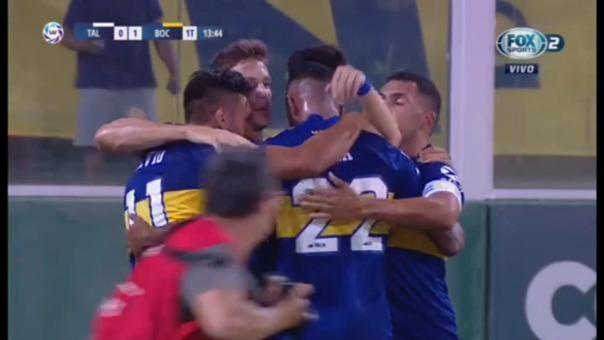 Así fue el gol de Sebastián Villa.