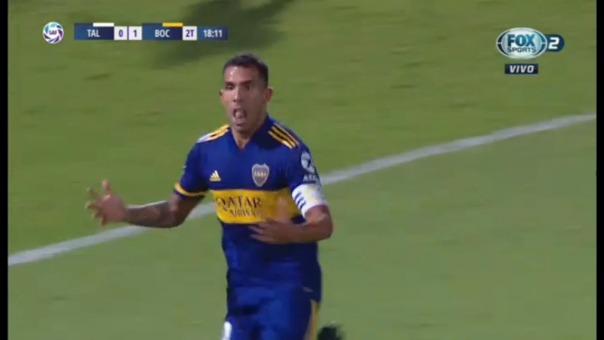 Así fue el gol de Carlos Tévez.