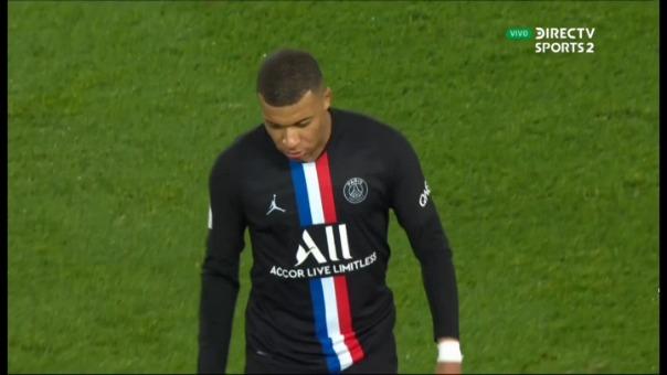 Esta fue la reacción de Kylian Mbappé tras ser cambiado en el partido contra Montpellier.