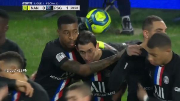 Así fue el gol de Mauro Icardi contra Nantes.