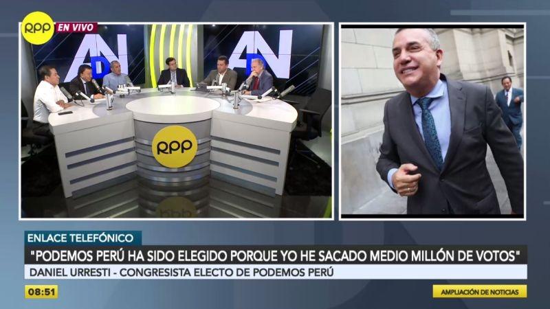 Daniel Urresti estuvo esta mañana en Ampliación de Noticias.