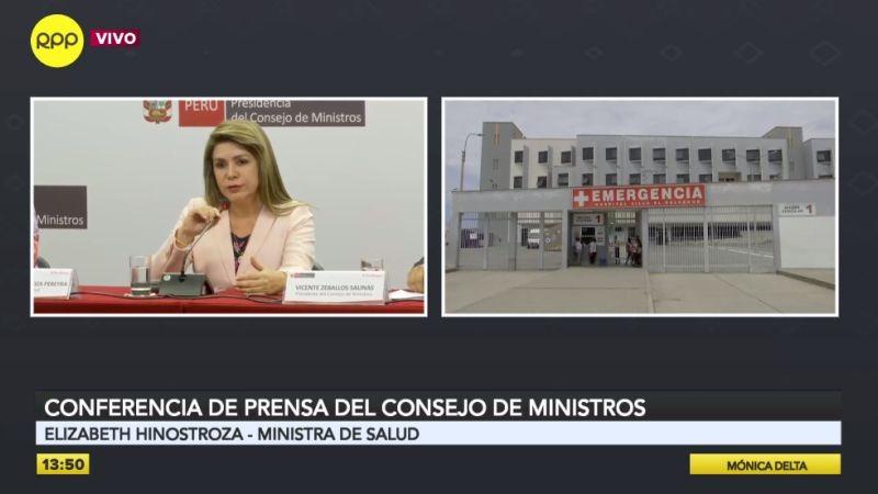 La ministra de Salud brindó una conferencia de prensa esta tarde.