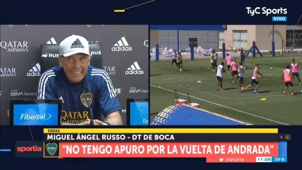 Entrenador de Boca Juniors, Miguel Ángel Russo.