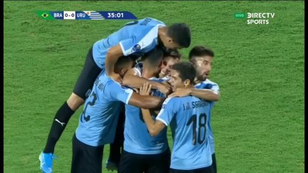 Así fue el gol de Manuel Ugarte.