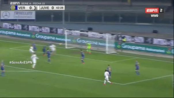 Así fue la ocasión de gol errada por Cristiano Ronaldo.