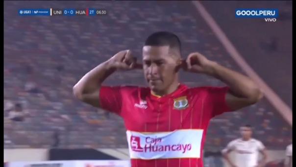 Así fue el gol de penal de Marcio Valverde.