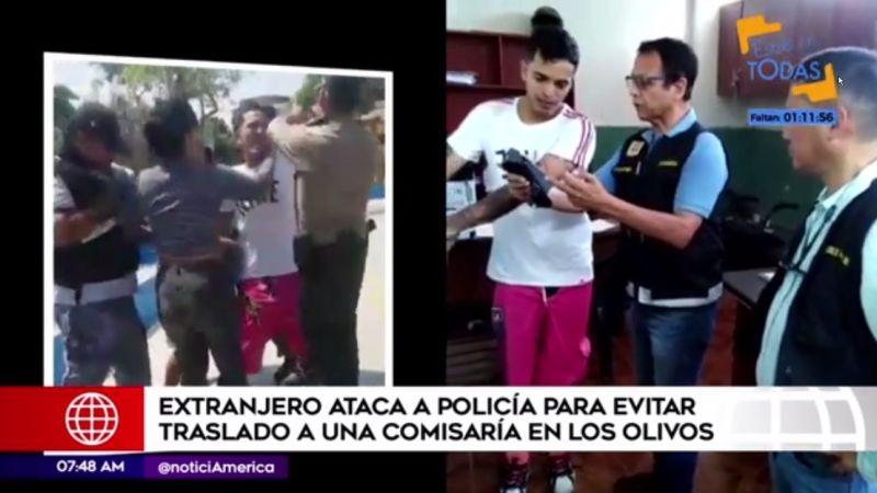 El venezolano había agredido a su pareja antes de ser intervenido.