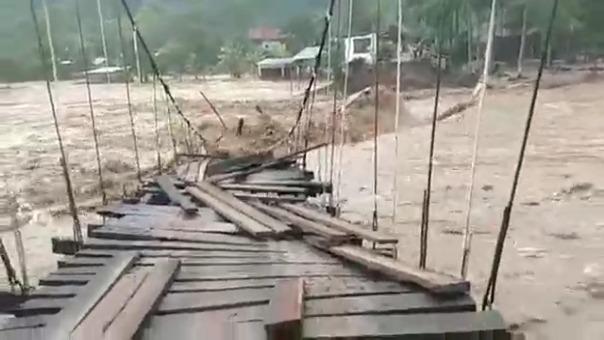 Así quedó el puente Victoria tras el desplome.