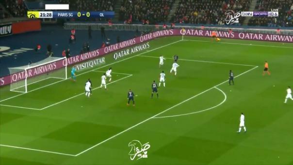 Así fue el gol de Ángel di María frente al Olympique de Lyon.
