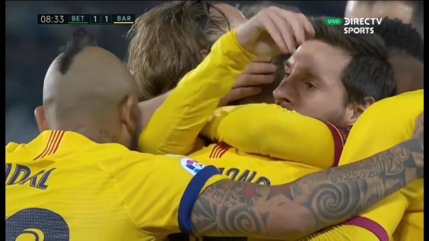 Así fue el gol de Frenkie de Jong al Real Betis.