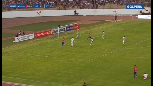 Así fue la ocasión de gol errada por Diego Guastavino frente a Alianza Lima.