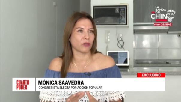 Mónica Saavedra, congresista electa de Acción Popular, tenía un proceso en 2013 por maltrato contra su menor hijo.