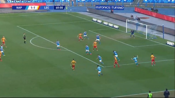 Gol de Gianluca Lapadula ante Napoli.