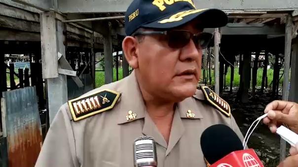 Comandante Polo Saavedra se pronuncia sobre el primer feminicidio del 2020 en Iquitos.