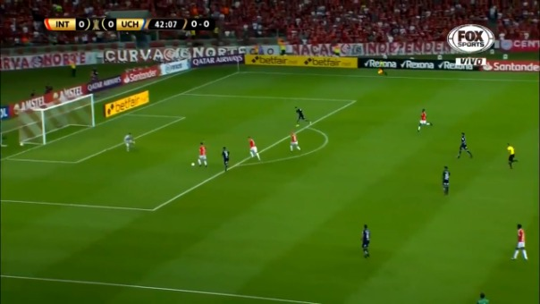 Así fue el gol de Gabriel Boschilia ante la Universidad de Chile.