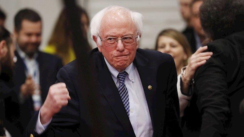 Bernie Sanders celebró una victoria más ajustada de lo esperado.