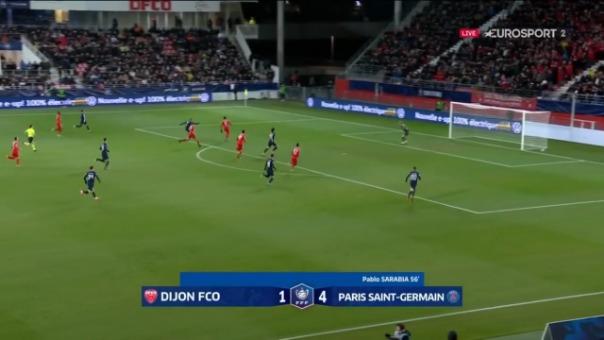Kylian Mbappé y su gol ante Dijon.