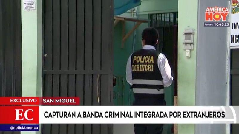 Los sospechosos fueron capturados gracias a las cámaras de seguridad del distrito.