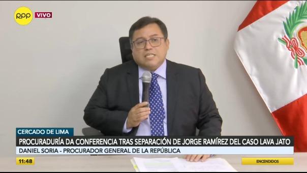 Daniel Soria, procurador general del Estado.