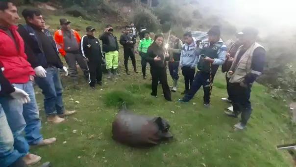 Cuerpo del menor fue hallado por las rondas campesinas luego que el presunto asesino confeso indicara el lugar donde estaba enterrado.